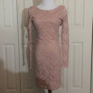 Dresses & Skirts - open back lace nude dress